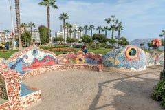 Η EL Parque del Amor, εραστές σταθμεύει, Miraflores, Λίμα, Περού Στοκ Φωτογραφίες