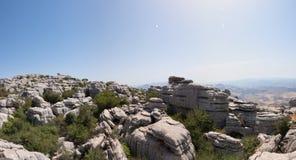 Η EL Torcal de Antequera είναι μια επιφύλαξη φύσης στην οροσειρά del Torcal σειρά βουνών Στοκ φωτογραφία με δικαίωμα ελεύθερης χρήσης