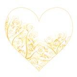 η floral διακόσμηση καρδιών σχε& Στοκ φωτογραφία με δικαίωμα ελεύθερης χρήσης