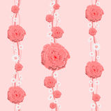 Η Floral ταπετσαρία είναι για το δωμάτιο ενός παιδιού Στοκ Εικόνες