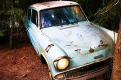 Η Ford Anglia στον κόσμο Wizarding του Harry Potter Στοκ Φωτογραφία