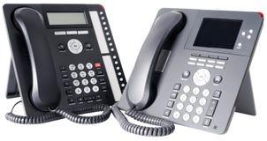 η IP τηλεφωνά σε δύο Στοκ Φωτογραφία