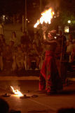 Η Lara Castiglioni και πυρκαγιά εμφανίζει Στοκ Φωτογραφίες