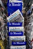 Η Le Monde με τις προκλήσεις Emmanuel Macron Προέδρου ` s μετά από εκλέγει στοκ φωτογραφία με δικαίωμα ελεύθερης χρήσης