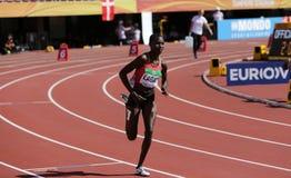 Η LYDIA JERUTO LAGAT από την ΚΈΝΥΑ τρέχει 800 μέτρα θερμοτήτων στο παγκόσμιο U20 πρωτάθλημα IAAF στη Τάμπερε, στοκ εικόνα