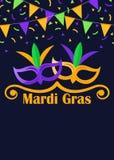 Η Mardi Gras το ιπτάμενο Στοκ εικόνα με δικαίωμα ελεύθερης χρήσης