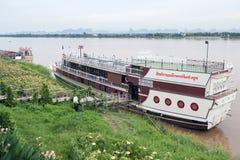 Η Mekong κρουαζιέρα παραδείσου, κρουαζιέρα βαρκών τουριστών κατά μήκος του ποταμού Μεκόνγκ στην επαρχία Nakhon Phanom, της Ταϊλάν Στοκ Εικόνες