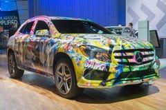 Η Mercedes με ένα δέρμα γκράφιτι Στοκ Εικόνες