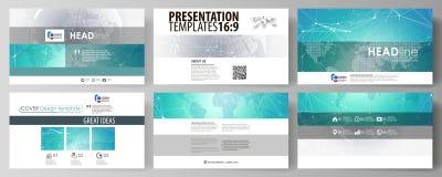 Η minimalistic αφηρημένη διανυσματική απεικόνιση του editable σχεδιαγράμματος της υψηλής παρουσίασης καθορισμού γλιστρά την επιχε Στοκ εικόνα με δικαίωμα ελεύθερης χρήσης