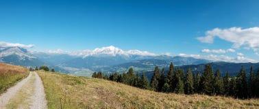 Η Mont Blanc στα γαλλικά όρη, Γαλλία Στοκ Φωτογραφίες