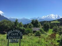 Η Mont Blanc στα γαλλικά όρη, Γαλλία Στοκ Εικόνες