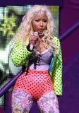 Η Nicki Minaj αποδίδει στη συναυλία στοκ φωτογραφία