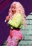 Η Nicki Minaj αποδίδει στη συναυλία στοκ εικόνα με δικαίωμα ελεύθερης χρήσης