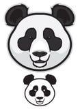 Η Panda αντέχει τα πρόσωπα Στοκ Φωτογραφία