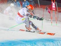 Η Petra Vihova SVK προετοιμάζει ένα άλμα στο παράλληλο slalom Στοκ Φωτογραφία