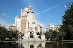 Η Plaza de España Ισπανία πλατεία, Μαδρίτη, Ισπανία Στοκ εικόνες με δικαίωμα ελεύθερης χρήσης