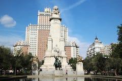Η Plaza de España Ισπανία πλατεία, Μαδρίτη, Ισπανία Στοκ φωτογραφία με δικαίωμα ελεύθερης χρήσης