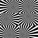 Η Psychedelic σπείρα με τις ακτινωτές ακτίνες, twirl, έστριψε την κωμική επίδραση, υπόβαθρα δίνης - διανυσματικό σύνολο ελεύθερη απεικόνιση δικαιώματος