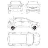 Η Renault συλλαμβάνει το σχεδιάγραμμα Στοκ φωτογραφία με δικαίωμα ελεύθερης χρήσης