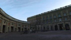 Η Royal Palace, Στοκχόλμη, Σουηδία απόθεμα βίντεο