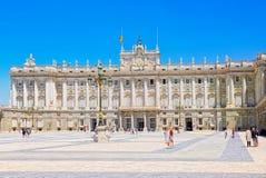 Η Royal Palace της Μαδρίτης Palacio πραγματικό de Μαδρίτη είναι ο ανώτερος υπάλληλος Στοκ Εικόνα