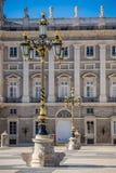 Η Royal Palace της Μαδρίτης Palacio πραγματικό de Μαδρίτη, επίσημο ρ Στοκ Φωτογραφία