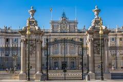 Η Royal Palace της Μαδρίτης Palacio πραγματικό de Μαδρίτη, επίσημο ρ Στοκ Εικόνα