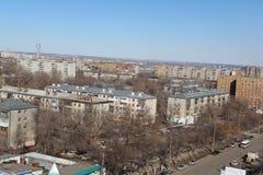 Η Samara είναι πόλη στη Ρωσία και τα σπίτια στις οποίες οι ρωσικοί λαοί ζουν Στοκ εικόνες με δικαίωμα ελεύθερης χρήσης