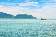 Η seascape άποψη του κόλπου AO Manao σε Prachuap Khiri Khan Στοκ εικόνα με δικαίωμα ελεύθερης χρήσης