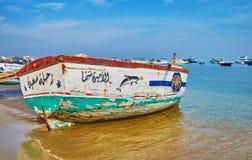 Η shabby βάρκα, Αλεξάνδρεια, Αίγυπτος στοκ φωτογραφία με δικαίωμα ελεύθερης χρήσης