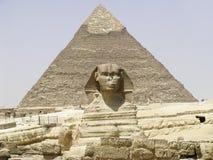 Η πυραμίδα Sphinx και Chephren Στοκ εικόνες με δικαίωμα ελεύθερης χρήσης