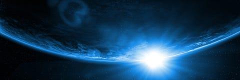 Η The Sun εμφανίζεται κάτω από τον ορίζοντα του πλανήτη Γη στοκ φωτογραφία με δικαίωμα ελεύθερης χρήσης