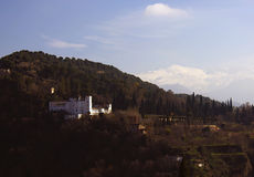 Η tipic άποψη της Γρανάδας, Ισπανία Στοκ εικόνα με δικαίωμα ελεύθερης χρήσης