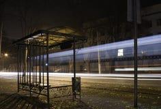 Η tram-car παύση. Στοκ Φωτογραφία