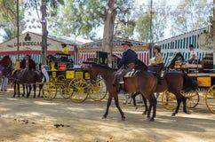 Η Utrera έκθεση είναι ένα παραδοσιακό φεστιβάλ της πόλης Utrera στοκ εικόνα