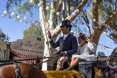 Η Utrera έκθεση είναι ένα παραδοσιακό φεστιβάλ της πόλης Utrera στοκ εικόνες