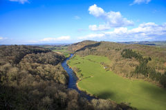 Η Wye περιοχή Gloucestershire, UK κοιλάδων Στοκ Εικόνες