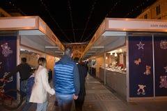 Θάλαμοι προμηθευτών και εορταστικά φω'τα Στοκ Φωτογραφία