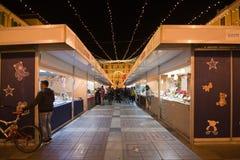 Θάλαμοι προμηθευτών και εορταστικά φω'τα Στοκ Εικόνες