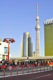 θάλαμος δέντρων πύργων του Τόκιο sumida ουρανού της Ιαπωνίας Στοκ Εικόνα