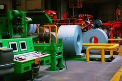 Θάλαμος ελέγχου του εργοταξίου σιδήρου στοκ φωτογραφίες με δικαίωμα ελεύθερης χρήσης