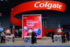 Θάλαμος της Colgate στη μεγαλύτερη οδοντική συνεδρίαση της Νέας Υόρκης στη Νέα Υόρκη στοκ φωτογραφία με δικαίωμα ελεύθερης χρήσης