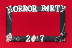 Θάλαμος φωτογραφιών για το κόμμα φρίκης στοκ εικόνες