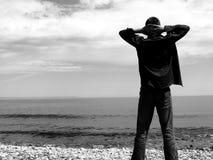 θάλασσα αγοριών Στοκ εικόνες με δικαίωμα ελεύθερης χρήσης