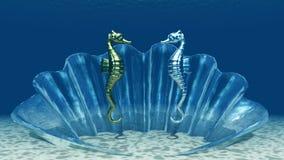 θάλασσα αλόγων Διανυσματική απεικόνιση