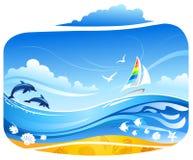 θάλασσα ανασκόπησης τρο&pi απεικόνιση αποθεμάτων