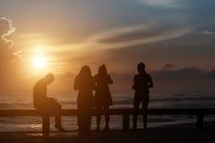 Θάλασσα ανατολής ανθρώπων Στοκ Εικόνες