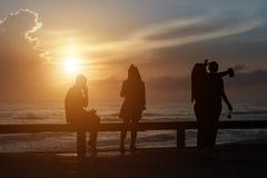 Θάλασσα ανατολής ανθρώπων Στοκ εικόνα με δικαίωμα ελεύθερης χρήσης