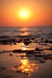 θάλασσα αυγής Στοκ Εικόνες