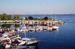 θάλασσα βαρκών Στοκ Φωτογραφίες